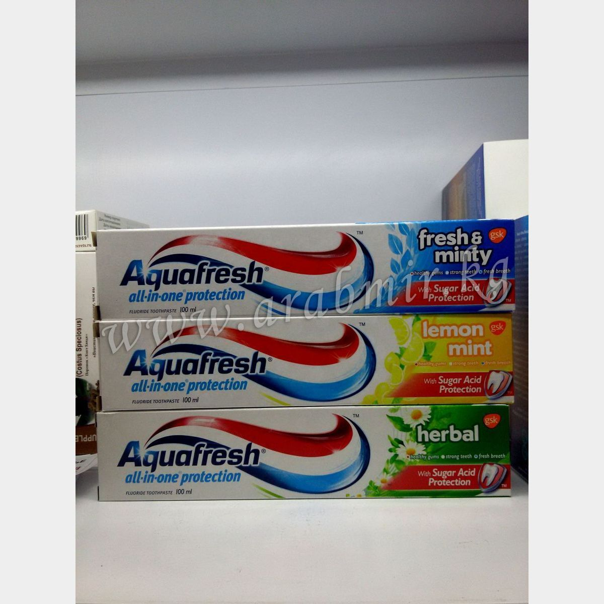 Aquafresh (100) Lemon  & Minty
